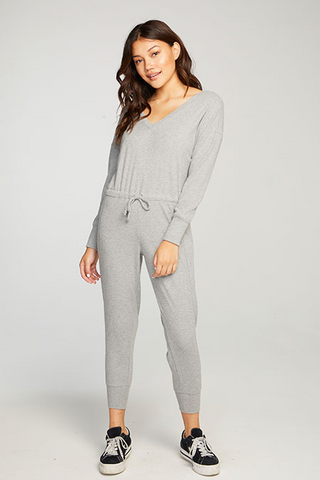 Love Rib Long Sleeve Jumpsuit