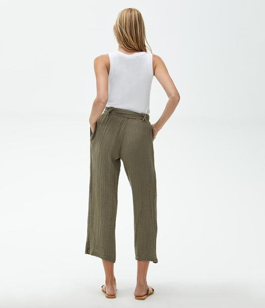 Juliette Wide Leg Pant with Tie - Mulberry & Me Chicago Boutique