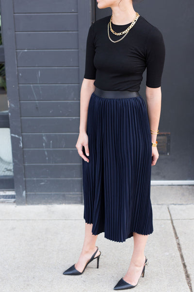Pleated Culottes - Mulberry & Me Chicago Boutique