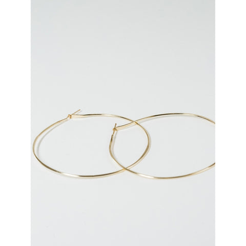 Gold Hammered Hoops - Mulberry & Me Chicago Boutique