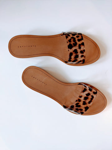 Rejoice Sandal - Leopard - Mulberry & Me Chicago Boutique