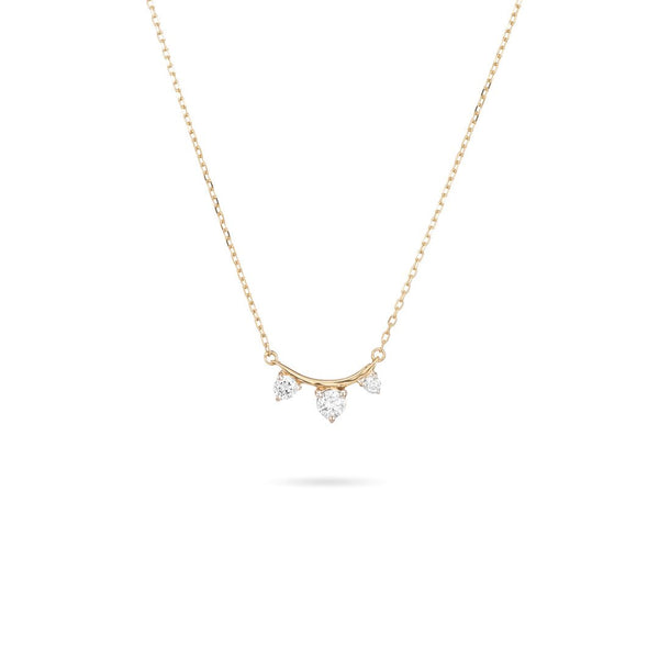 3 Diamond Amigos Curve Necklace - Mulberry & Me Chicago Boutique