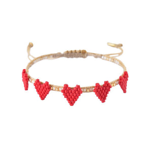 Multi Heart Row Bracelet