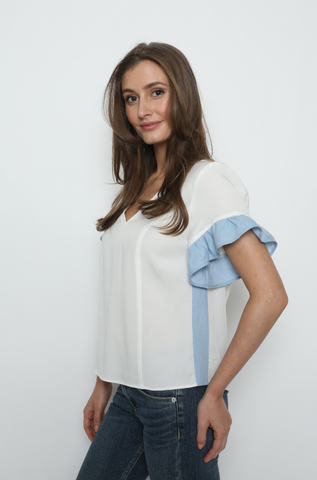 Rodin V Neck Tee - Mulberry & Me Chicago Boutique