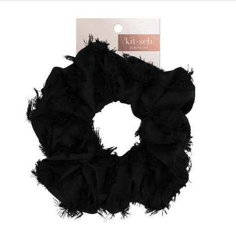 Brunch Scrunchie - Frayed Black