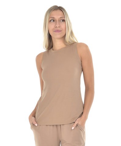 Harper Tank - Toasted Taupe