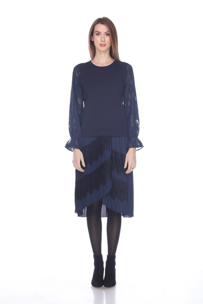 Sheer Sleeve Sweater - Mulberry & Me Chicago Boutique