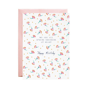 'Spring Chickens' Bday Card - Mulberry & Me