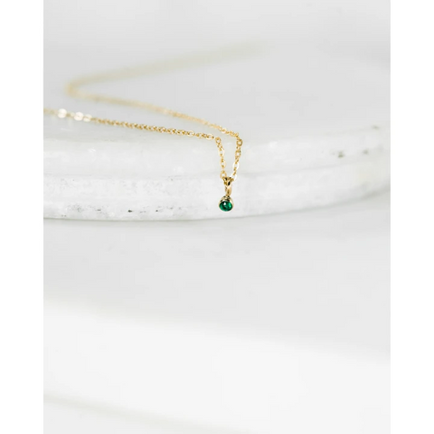 Emy Lou Emerald Necklace - Mulberry & Me Chicago Boutique