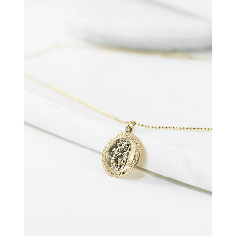 Saint Christopher Medal - Mulberry & Me Chicago Boutique