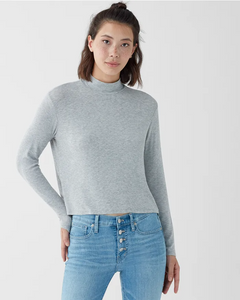 Eastsider Rib Mock Neck Top