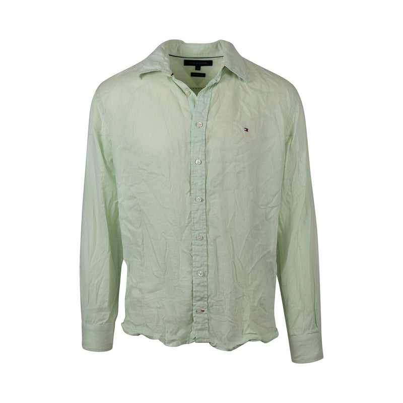 Tommy Hilfiger Linen Button-Up (M) - Spike Vintage