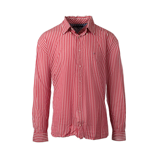 Tommy Hilfiger Pinstripe Button Up (XXL) - Spike Vintage