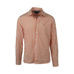 Tommy Hilfiger Orange Stripe Button-Up (M)