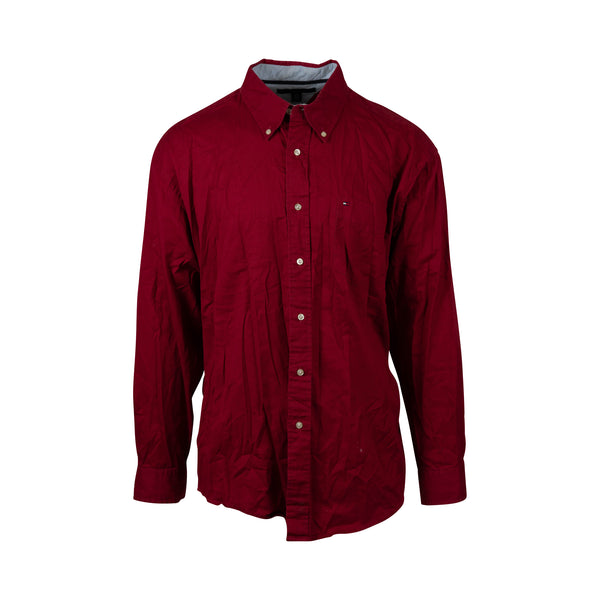 Tommy Hilfiger Maroon Button-Up (XL)