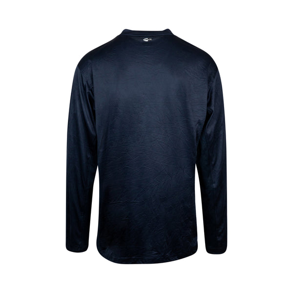 Vintage Adidas Navy Long Sleeve Pullover (2XL) - Spike Vintage