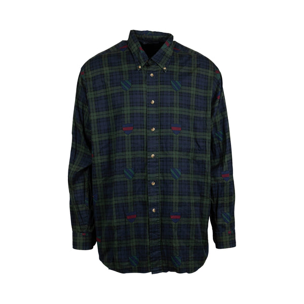 Nautica Checkered Button-Up (L) - Spike Vintage