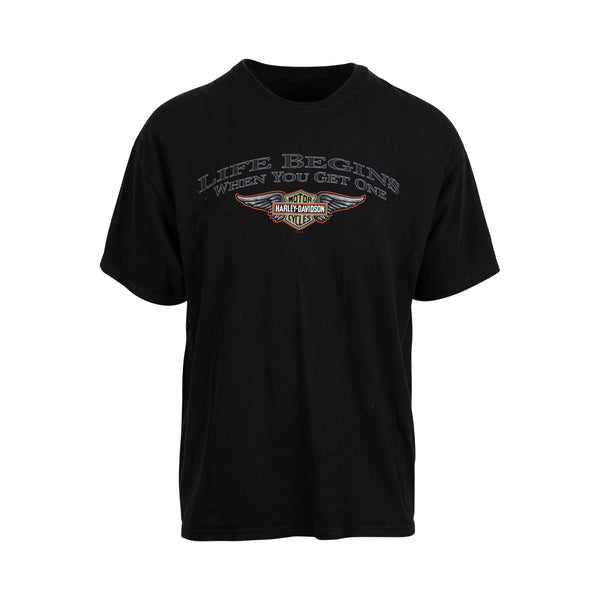 Harley Davidson 2004 'Life Starts When You Get One' Tee (XL) - Spike Vintage