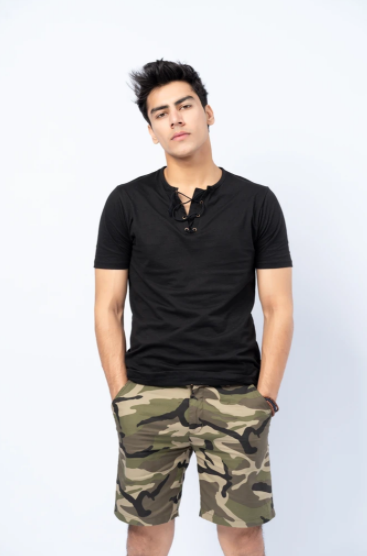LACE UP HENLEY TEE