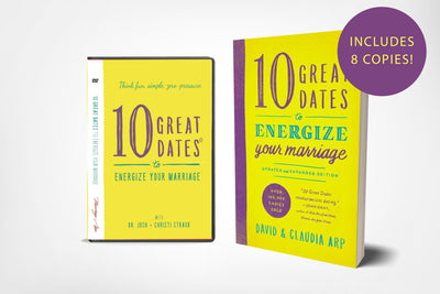 dvd and book cover of 10 great dates to energize your marriage with david arp, claudia arp, joshua straub, christi straub