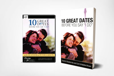 book cover and dvd cover of 10 great dates before you say i do by david arp and claudia arp