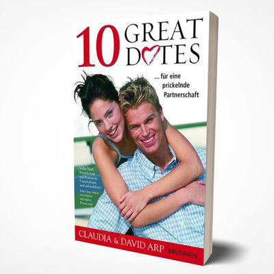 book cover of 10 great dates in german, by david arp and claudia arp