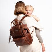 The Bambino Backpack in Brown
