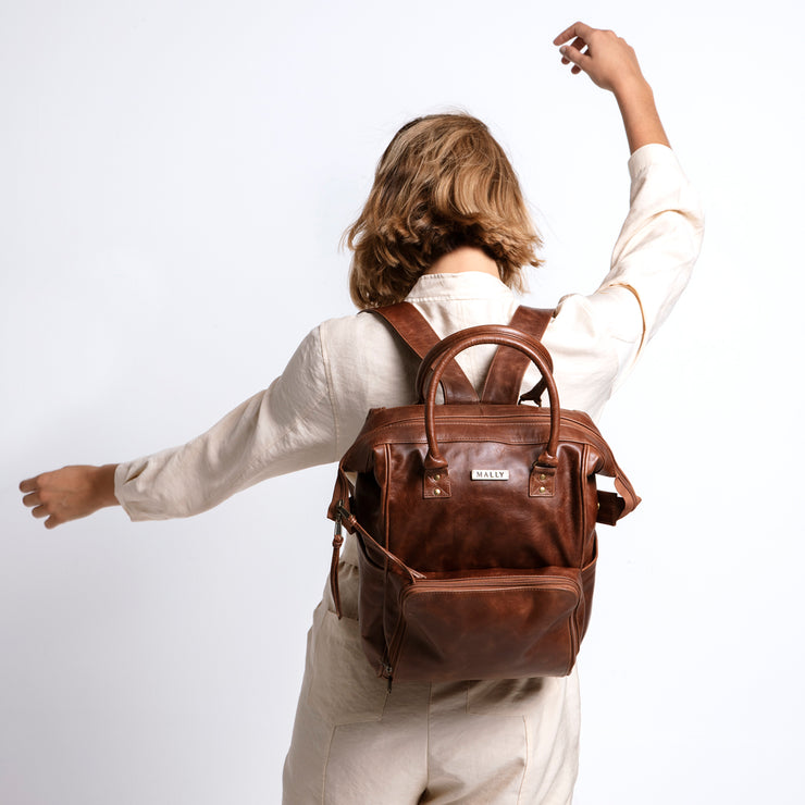 The Multipurpose Backpack in Brown