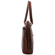 Ladies laptop bag in brown