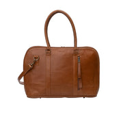 Ladies laptop bag in Toffee