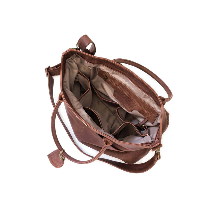 The Beula Baby Bag in Brown (2)