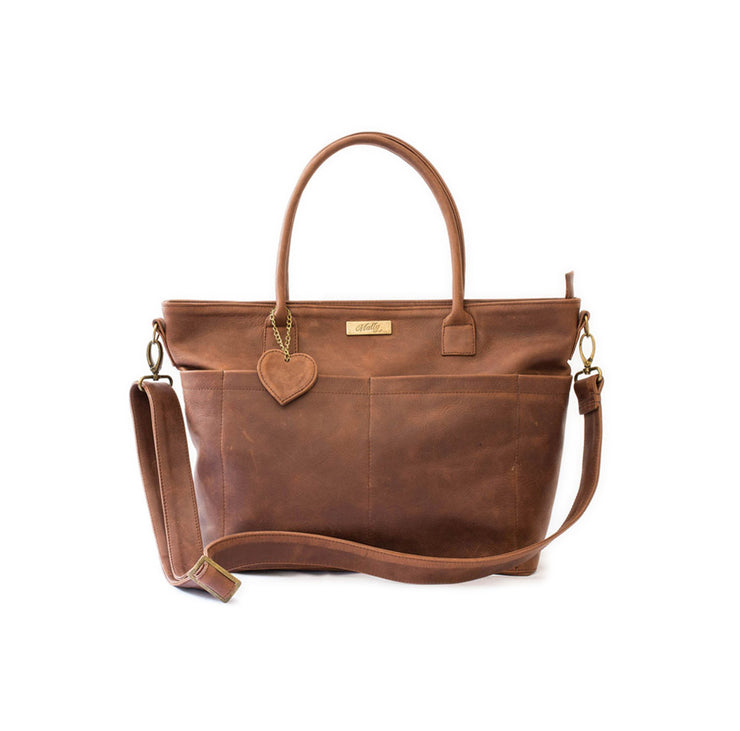 The Beula Baby Bag in Brown (3)