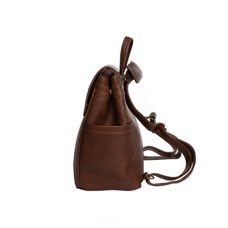 The Bebe Backpack in Saddle