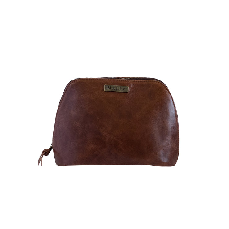 Ladies Makeup Bag in Brown