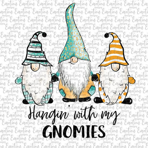 Hanging with my Gnomies - Heat Transfer/Sublimation Transfer