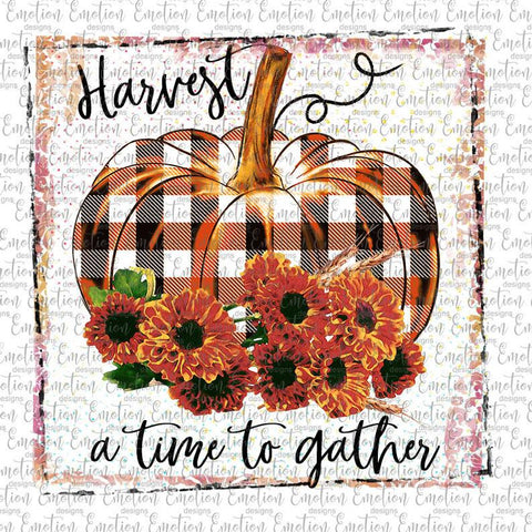 Harvest a Time to Gather - Heat Transfer/Sublimation Transfer
