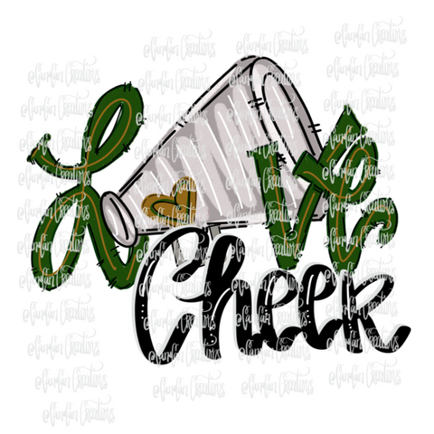 Love Cheer (Green) - Heat Transfer/Sublimation Transfer
