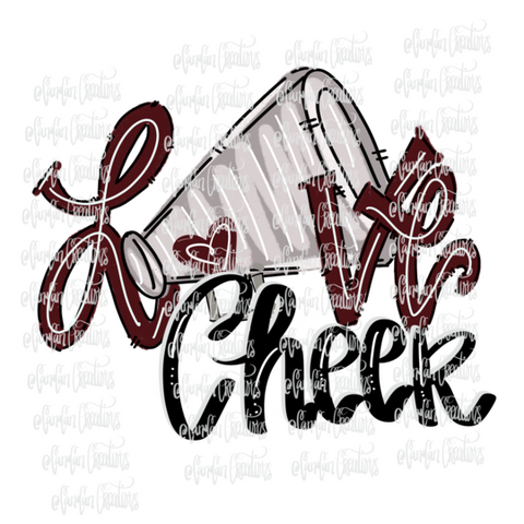 Love Cheer (Maroon) - Heat Transfer/Sublimation Transfer