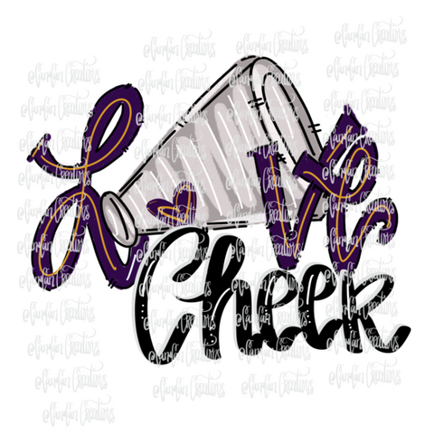 Love Cheer (Purple) - Heat Transfer/Sublimation Transfer
