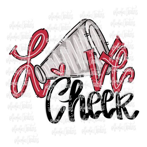 Love Cheer (Red) - Heat Transfer/Sublimation Transfer