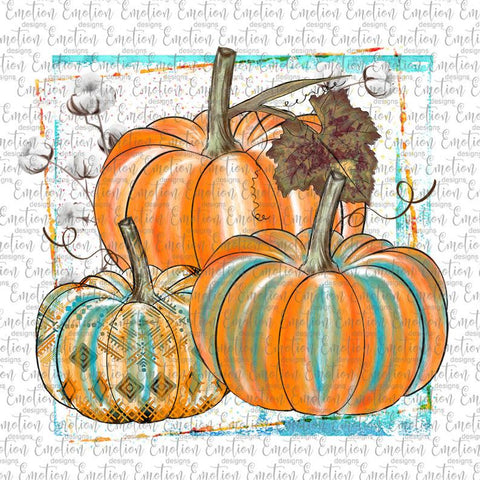 Pumpkins and Cotton - Heat Transfer/Sublimation Transfer