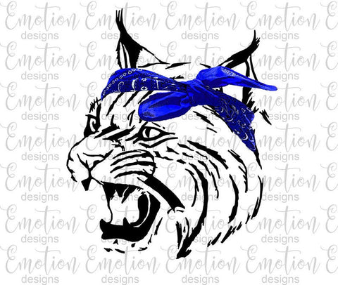 Wildcat Blue Bandana- Heat Transfer/Sublimation Transfer
