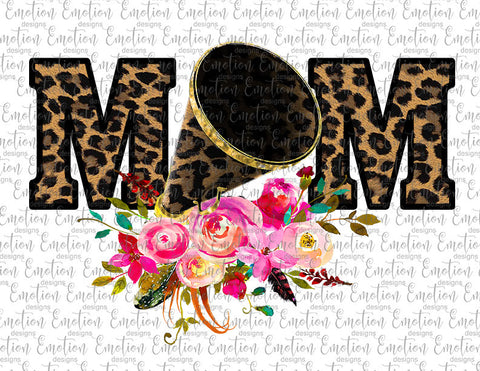 Cheer Mom Leopard Print - Heat Transfer/Sublimation Transfer