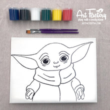Load image into Gallery viewer, Pre-Traced Canvas - Baby Yoda