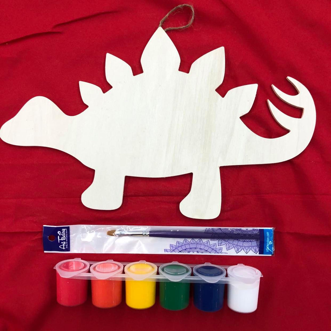 DIY Wood Stegosaurus Cutout