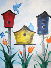 Load image into Gallery viewer, Pre-Traced Canvas - Birdhouses