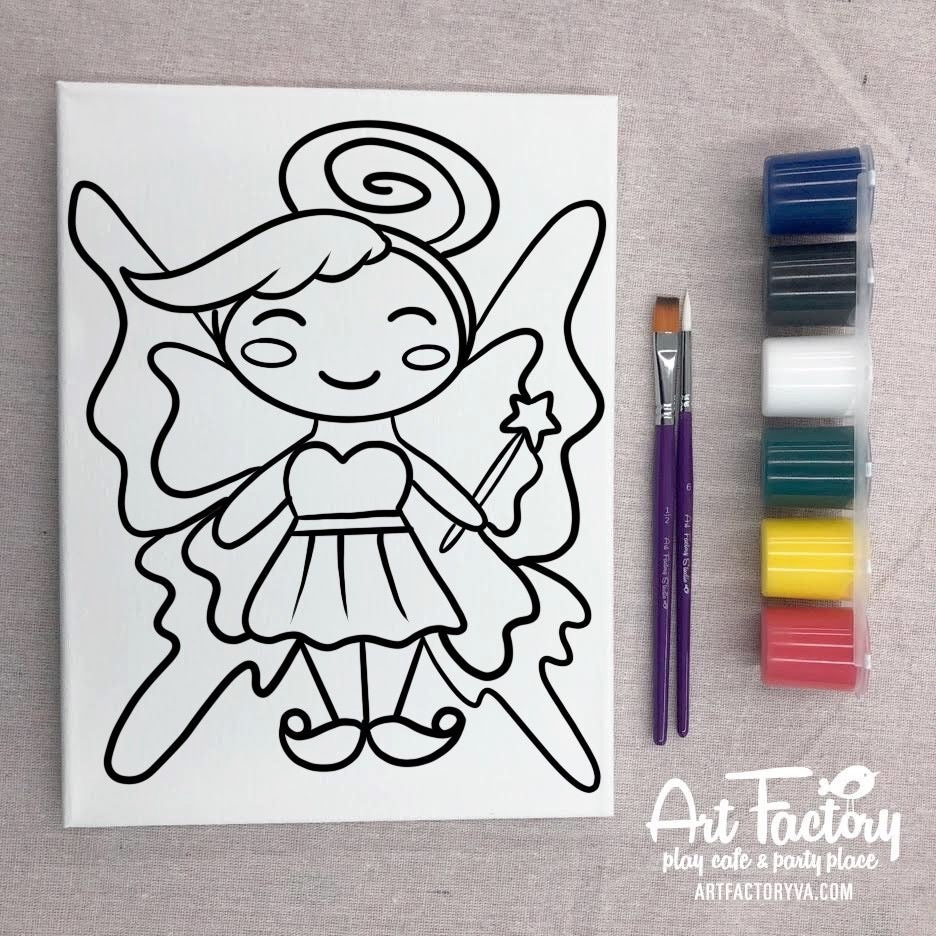 Pre-Traced Canvas - Fairy