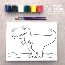 Load image into Gallery viewer, Pre-Traced Canvas - T-Rex