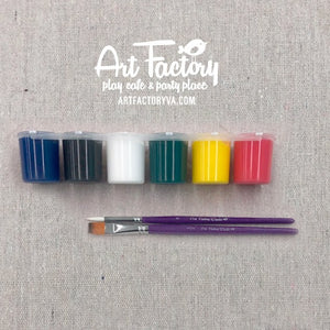 To Go Kits - Acrylic Paint and Brushes