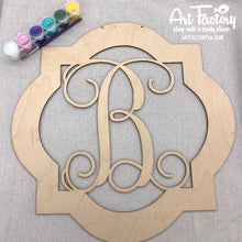 "Load image into Gallery viewer, To Go Kits for Moms- Large 22"" Wooden Door Hanger ""Quatrefoil B"""